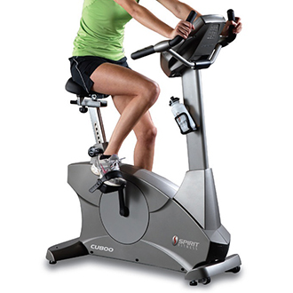 Woman on Life Fitness Bike